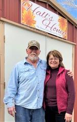 Andy Joyner and Debbie Gilmore own Hall's Honey.