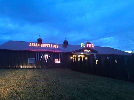 Asian Buffet 318 shares a building with Finger Lakes Tea Co. near Waterloo Premium Outlets.