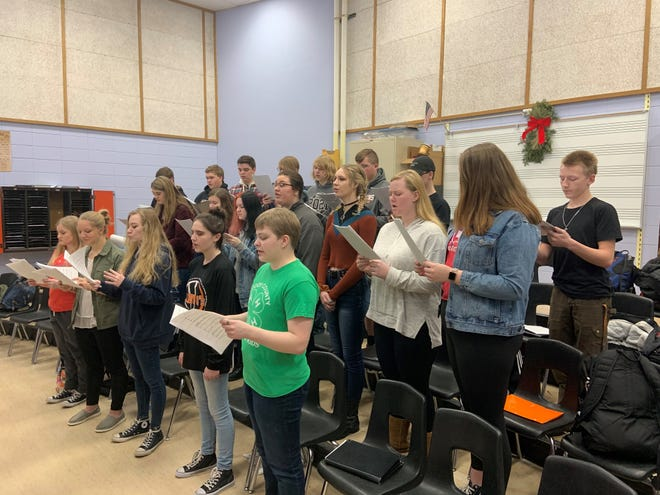 The Dell Rapids Espresso Choir prepares for the South Dakota music conference that takes place in Brookings on February 13.