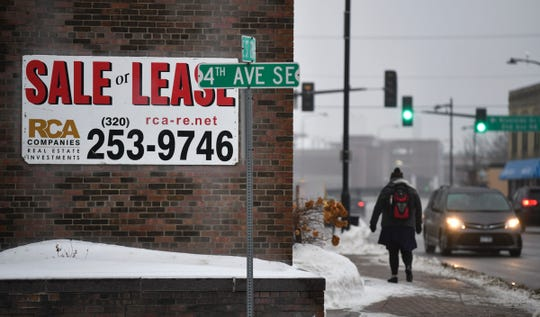 Areas of the East Side of St. Cloud are currently part of the city's small area plan. The area was also designated as an opportunity zone in 2018 by the U.S. Treasury. Buildings along East St. Germain Street are pictured Wednesday, Jan. 22, 2020.