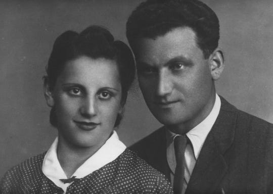 Tuvia and Lilka Bielski.  Lilka (Lillian's) testimony is featured in the exhibition. She describes her husband Tuvia's leadership of the Bielski Otriad, a Jewish partisan unit in Belarus during World War II. Bielski led the largest armed rescue of Jews by Jews.