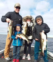 The Gaffigan family from North Carolina enjoyed a great day of bass fishing out on the big lake with Capt. Nate Shellen of Okeechobeebassfishingcom.