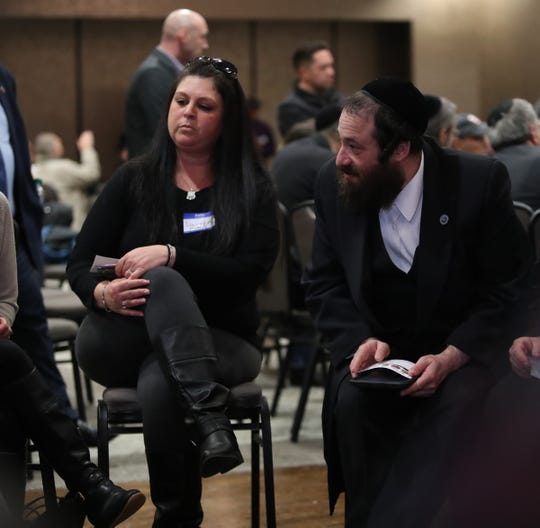 Lauren Marie Wohl of Clarkstown works with other in a group during the Five Town Supervisors' Coalition to Combat Hatred and Promote Unity in Rockland County at Crowne Plaza in Montebello on Thursday, January 23, 2020.
