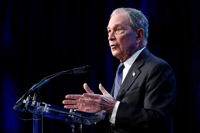 Democratic presidential candidate former New York City Mayor Michael Bloomberg speaks at the U.S. Conference of Mayors' Winter Meeting, Wednesday, Jan. 22, 2020, in Washington.