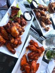 Wings at Jackie B's in Scarsdale come with a variety of sauces.