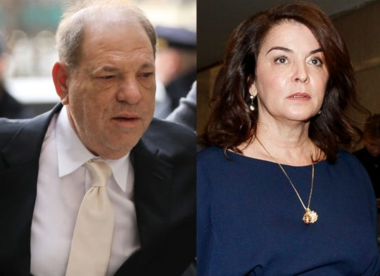 Actress Annabella Sciorra accuses Harvey Weinstein of raping her.
