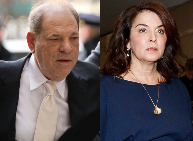 Actress Annabella Sciorra accuses Harvey Weinstein of raping her.