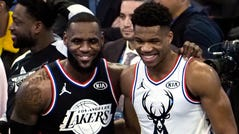 LeBron James and Giannis Antetokounmpo are All-Star captains for the second year in a row.