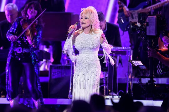 Dolly Parton performs during the 53rd Country Music Association Awards at Bridgestone Arena on Nov. 13, 2019.