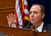 Chairman Adam Schiff (D-CA) questions to Joseph Maguire, acting Director of National Intelligence, during testimony about his decision to not share a whistleblower complaint in front of the House Select Committee on Intelligence on Sept. 26, 2019 in Washington.