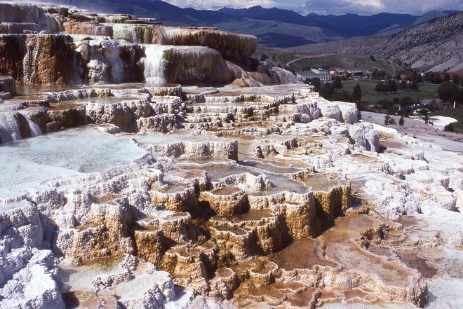 9. Mammoth Hot Springs Trail in Yellowstone National Park, Wyoming