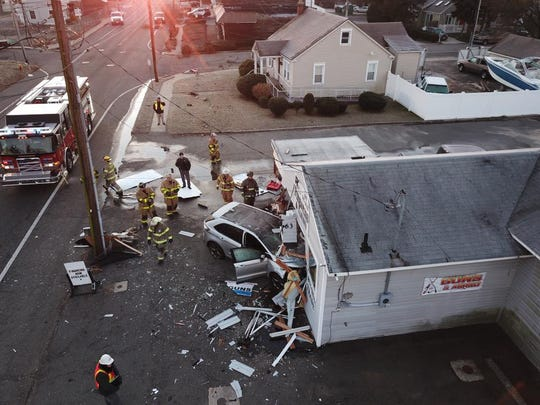A crashearly Friday morninghas leftEast Bay Avenue near Letts Avenue closed in both directions.