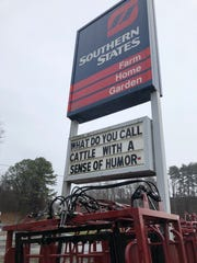 This riddle on the Southern States sign on Riverside Drive was part of a contest to win a free hat.