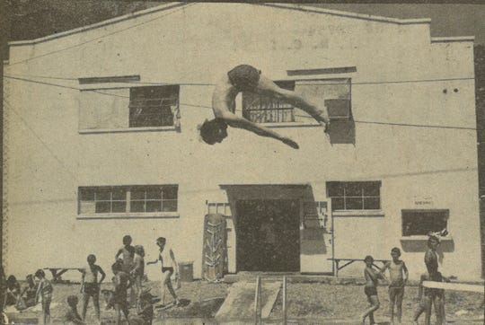 A photo in the July 3, 1980, edition of the News-Record highlights the Marshall pool in better times.