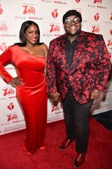 Tanya Trotter and Michael Trotter from 'War and Treaty' attend The American Heart Association's Go Red For Women Red Dress Collection 2019 Presented By Macy's at Hammerstein Ballroom on February 7, 2019 in New York City.
