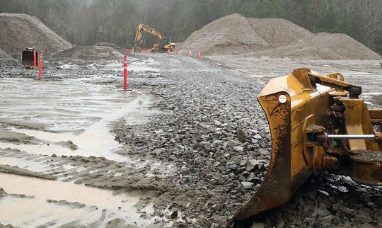 Triangle Property sand mine site off of Bainbridge Island's Fletcher Bay Road on Thursday, Jan. 23, 2020.