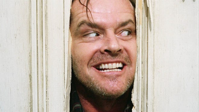 "Heeere's Jackie! Jack Nicholson stars in the 1980 horror classic ""The Shining,"" which screens Jan. 31 at the Admiral Theatre in Bremerton."
