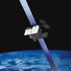 An artist's rendering of a Boeing 702 series satellite.