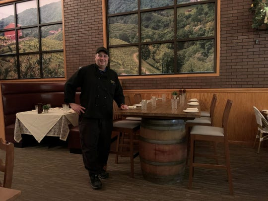 Chef Enrico Botto is shown in the newly renovated dining room of Botto's Italian Line Restaurant in Swedesboro.