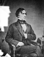 Is he reaching for sunscreen? President Franklin Pierce visited Cape May in 1855.