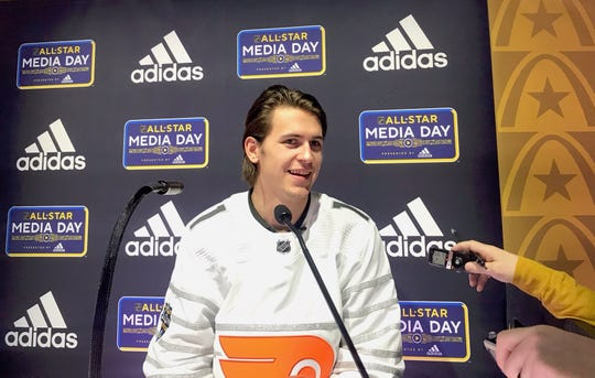 Travis Konecny is in St. Louis as a first-time All-Star. The Flyers winger co-leads the team in points with 43.