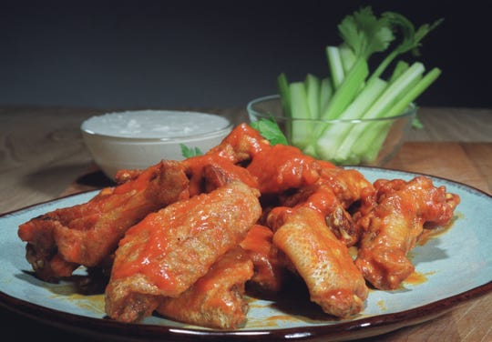 Buffalo-style Chicken Wings for Super Bowl.