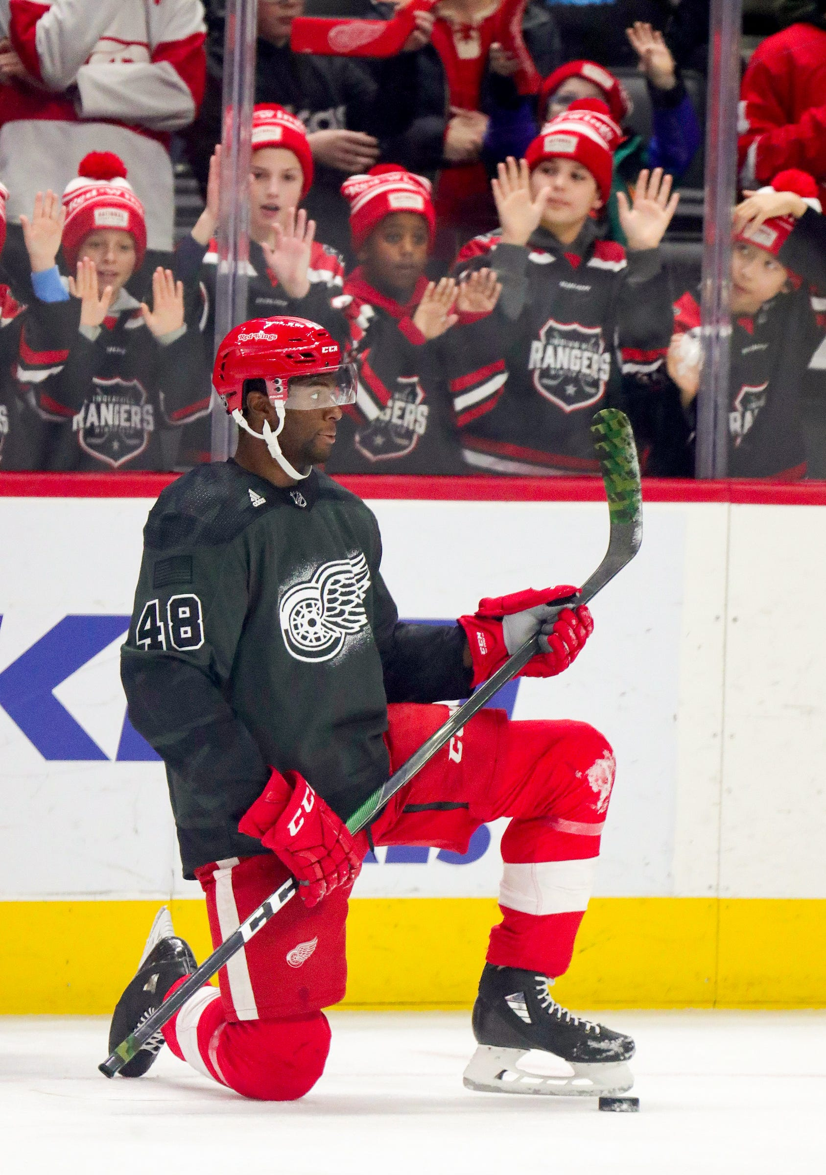 How Red Wings' Givani Smith used father's lessons to battle racism on road to NHL