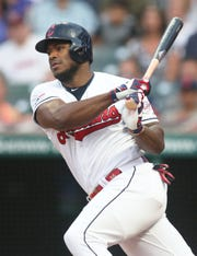Cleveland Indians right fielder Yasiel Puig during a game Sept. 22, 2019.