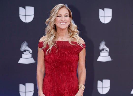 This Nov. 14, 2019 file photo shows Grammys CEO Deborah Dugan at the 20th Latin Grammy Awards in Las Vegas.