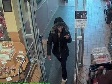 Evansville Police said this is one of the people suspected of passing counterfeit bills at the West Side Schnucks location.