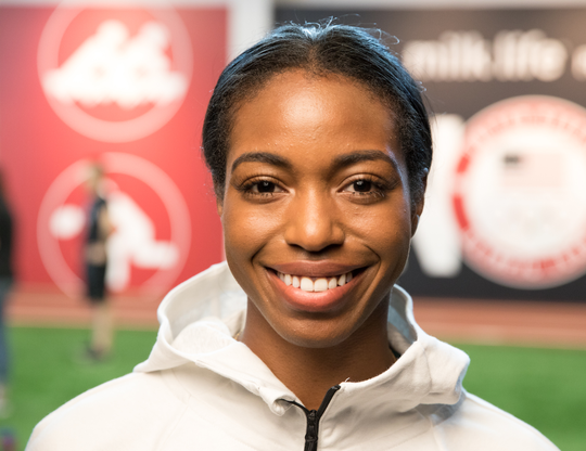Leah Fair, one of the fastest sprinters ever at Colorado State, is all smiles after earning a spot on the U.S. development team for skeleton through 'The Next Olympic Hopeful' program.