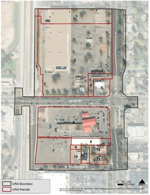 College and Drake urban renewal area.