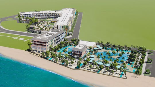 A rendering of what the Margaritaville resort will look like on Fort Myers Beach.
