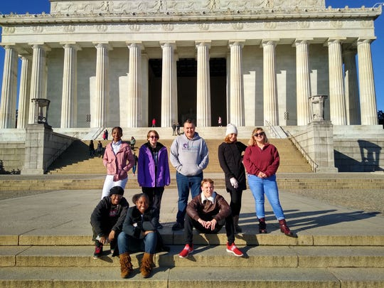Eight Lee County teens who are watching history unfold in real-time during a weeklong trip to Washington, D.C., where they are touring national monuments and museums as well as getting a once-in-a-lifetime chance to sit in the gallery of the Senate's presidential impeachment trial.