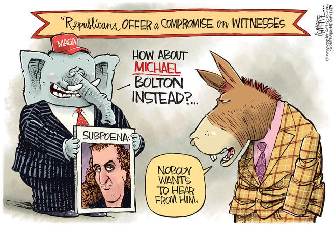 Michael Bolton instead to testify?