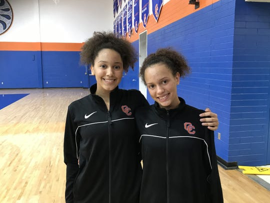 Sisters Haley (left) and Savannah Lang are playing together for likely the final time as Savannah finishes her high school career at Cape Coral this season. The duo has helped the Seahawks win their last seven games as the postseason approaches.