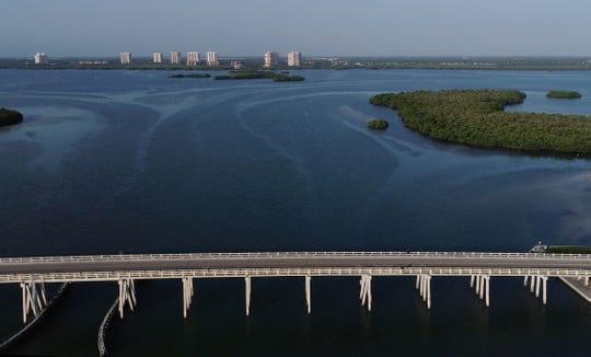 Aerial view of Estero Bay captured via drone footage on June 20, 2019.