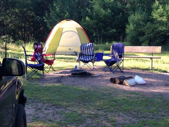 Ten tent sites are included in the plan for Sister Bay's upcoming campground, located behind Dovetail Trading along State 57.