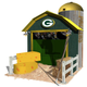 "Lowe's built dwellings representing all 32 NFL teams for its Lowe's Hometown display at Super Bowl LIV in Miami. The Green Bay structure is called  ""Packer Pastures."""