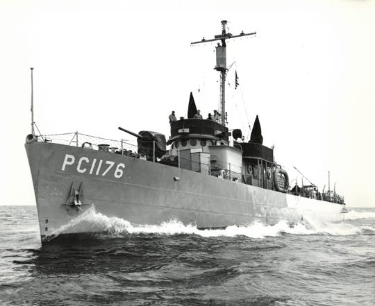 "PC-1176 was a World war II patrol ship built at Leathem D. Smith in Sturgeon Bay. The story of the submarine chasers and patrol crafts built in the city for the war is the subject of the new ""Built for Battle"" exhibit at the Door County Maritime Museum."