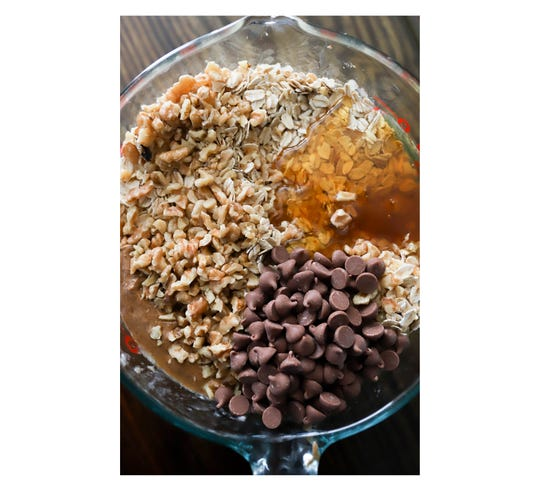 Ingredients for Blueberry Breakfast Cookies
