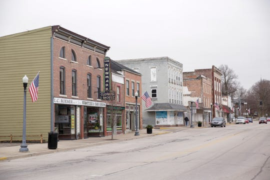 A look down Perry Street at Attica's downtown, Thursday, Jan. 23, 2020.