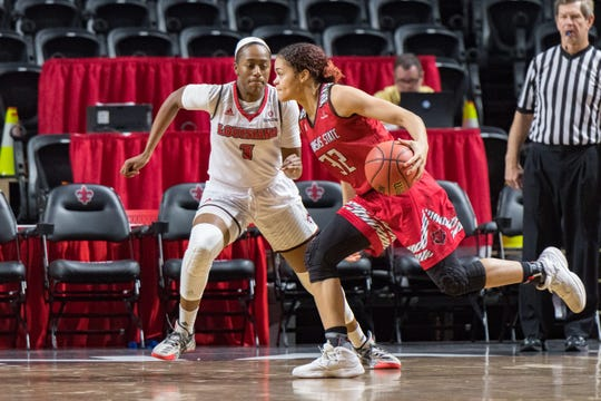 Ty Doucet's defense has been a big boost behind the UL women's basketball team's success of late.