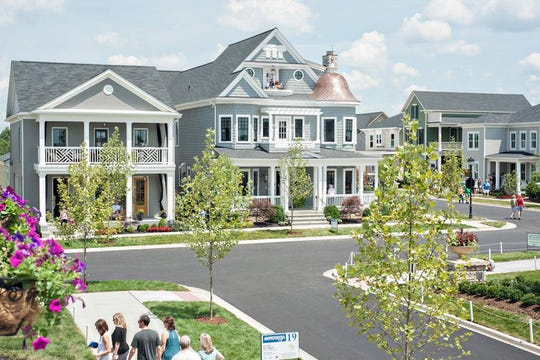 People check out homes in Norton Commons.