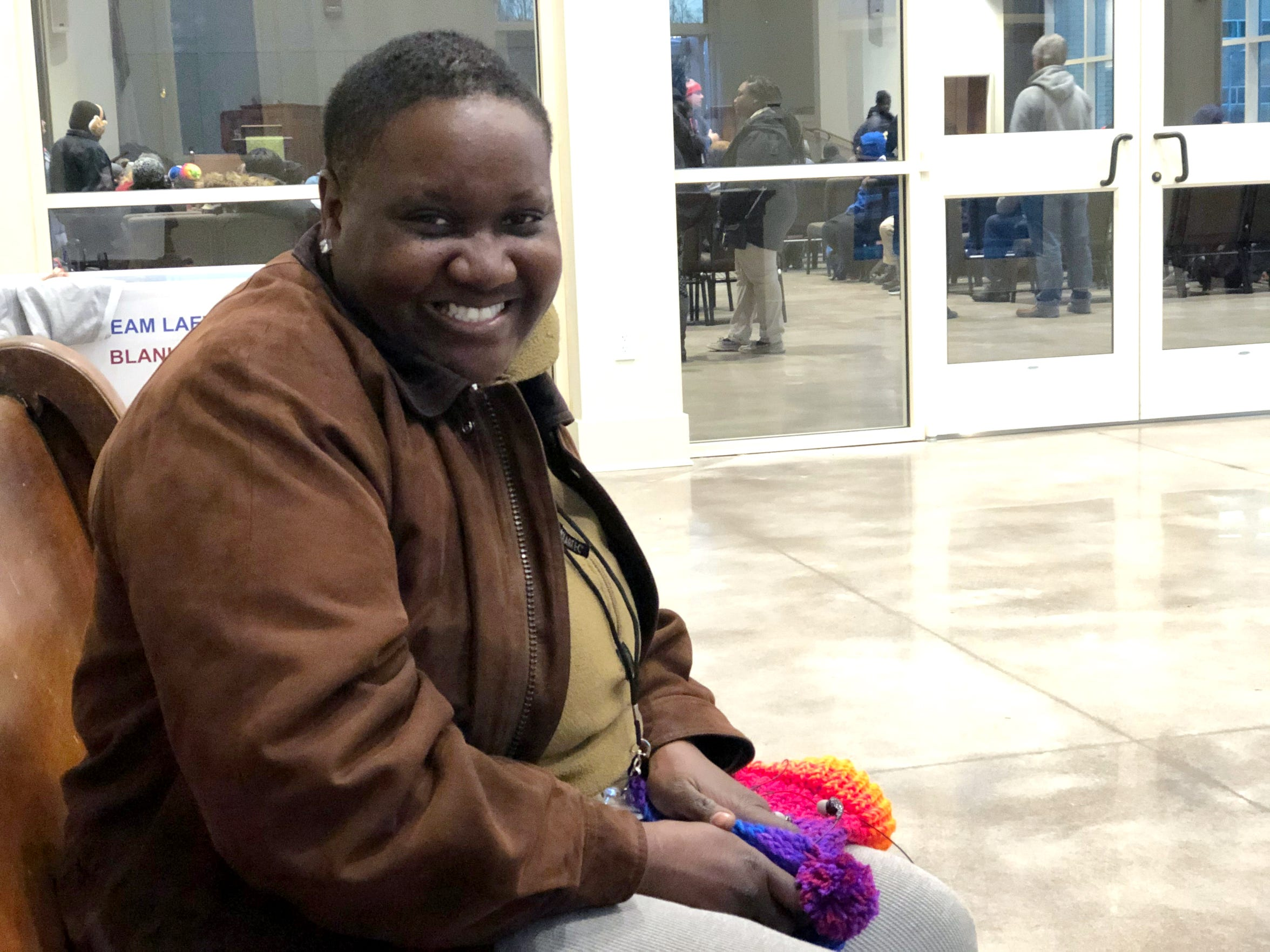 "Caresa Williams, 33, said her experience with homelessness began with a nervous breakdown after the father of her three children died. ""I was like, I don't know what I'm gonna do. I have three kids. What am I supposed to do? I was used to my kids' father being that breadwinner,"" she said on Jan. 21, 2020, while waiting for her placement through Room in the Inn. Williams said she's currently in the process of being rehoused."