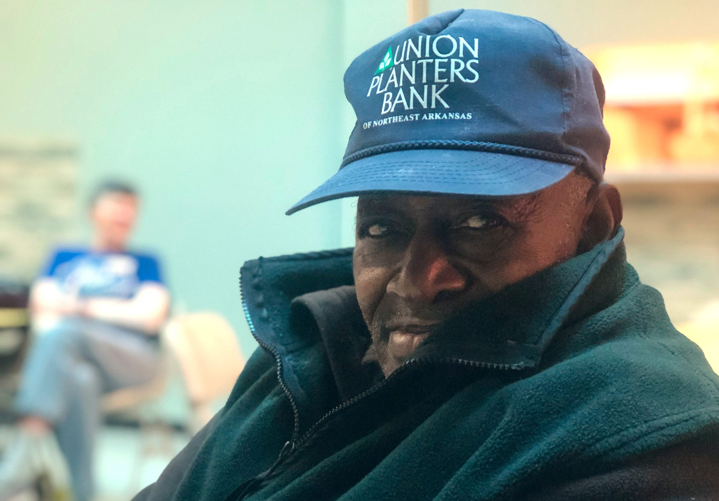 Roger Smith, 86, regularly seeks shelter through Room in the Inn, which does not have the capacity to place him every night. The previous evening, Smith slept in a chair at a warming center opened by the city of Memphis.