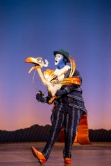 "Jürgen Hooper portrays Zazu in the North American tour of Disney's ""The Lion King."""