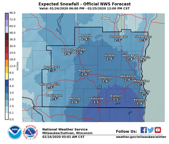 More snow is expected across southern Wisconsin beginning Friday night into Saturday. The heaviest snow is forecast to fall across southern portions of the region.