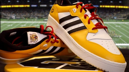 Grambling State University unveiled two exclusive sneaker designs developed by athletic apparel partner, adidas Originals, for the students of the World Famed Tiger Marching Band.