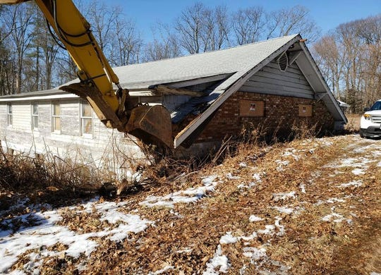 Closed for 30 years, the deteriorating, Iconic Route 46 Blue Bird Tavern was finally demolished Wednesday in the Budd Lake section of Mount Olive.